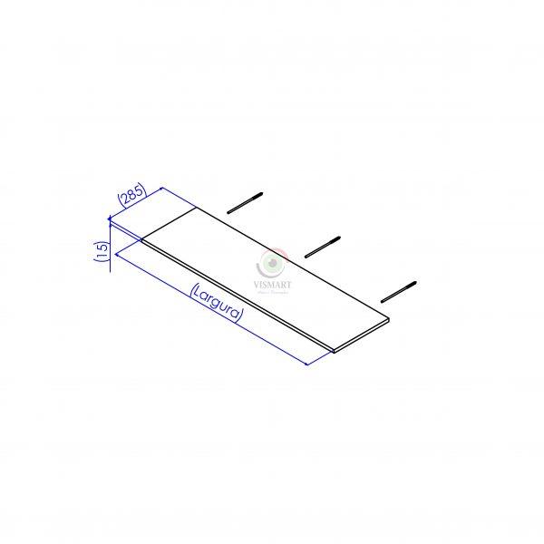 Medidas da prateleira suporte invisível